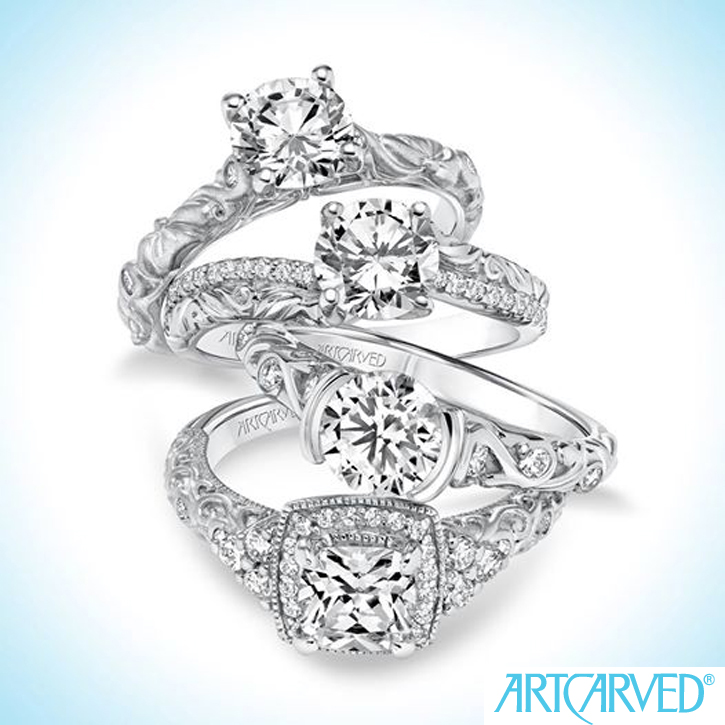 Art_Carved_Bridal_DeNatale Jewelers_gold_platinum_palladium_tungsten carbide_engagement rings_wedding rings_bridal sets_diamonds