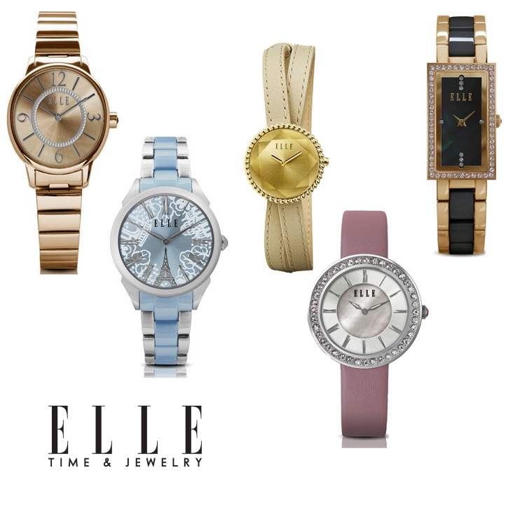 Elle_Watches_DeNatale Jewelry_stainless steel_goldplate_crystal_fashion