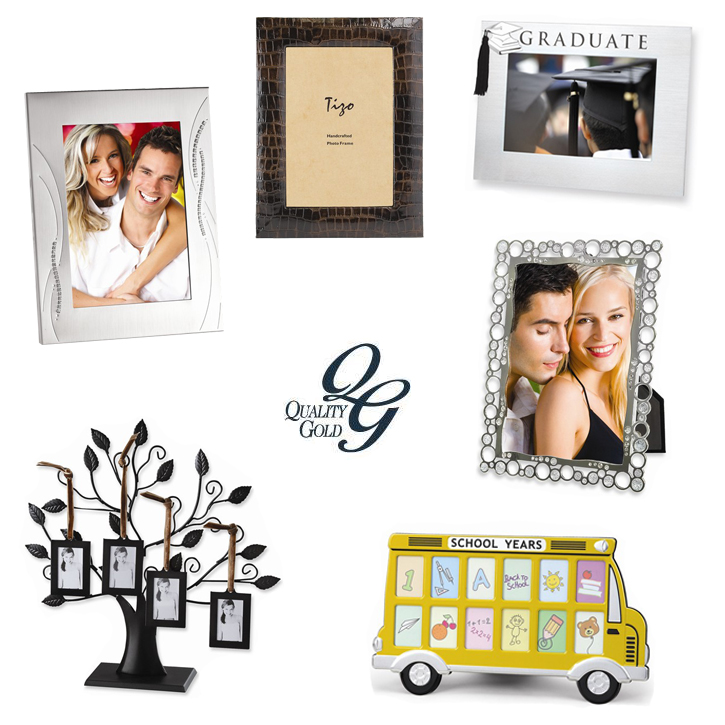 Quality Gold_Giftware_Frames_DeNatale Jewelers_silver_silvertone_silver plate_leather_wood