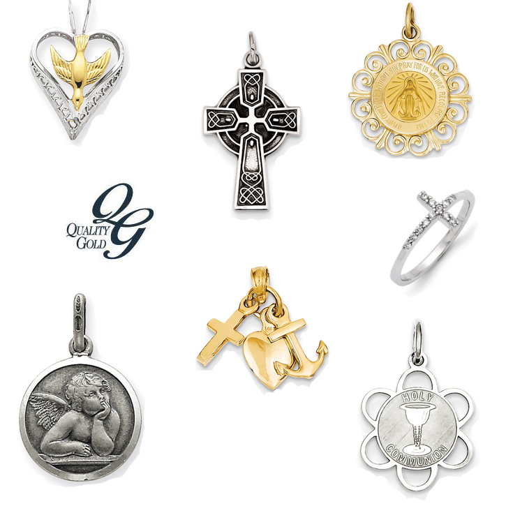 Quality Gold_Religious_DeNatale Jewelers_gold_silver_medals_pendants_necklaces_bracelets_earrings_charms_beads_rings