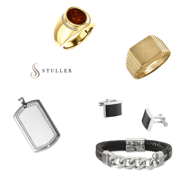 Stuller_Mens_DeNatale Jewelers_gold_silver_rings_necklaces_rings_money clips_tie tacks_cufflinks_diamonds_gemstones