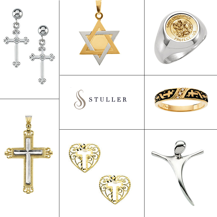 Stuller_Religious_DeNatale Jewelers_gold_silver_medals_pendants_necklaces_bracelets_earrings_charms_beads_rings