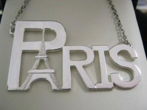 Check out this unique nameplate in sterling silver that was made for one of our customers. Beautiful!
