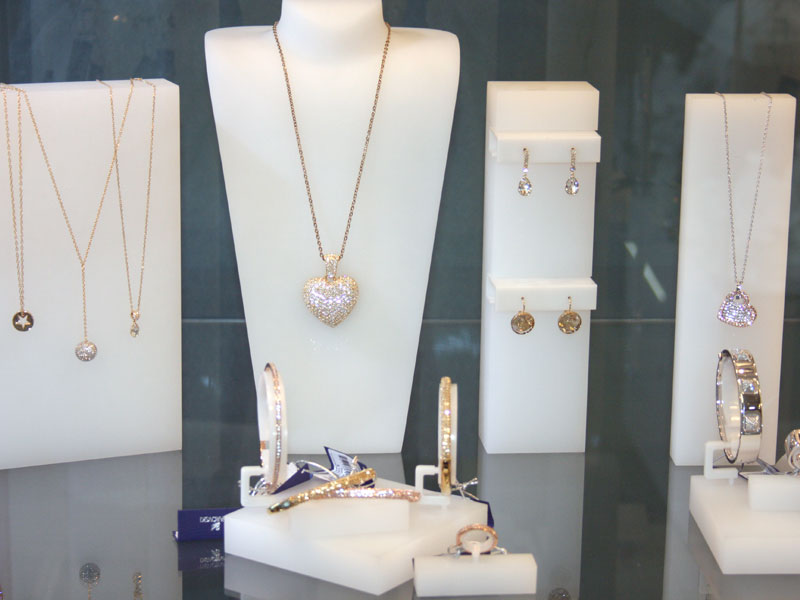 Swarovski jewelry display