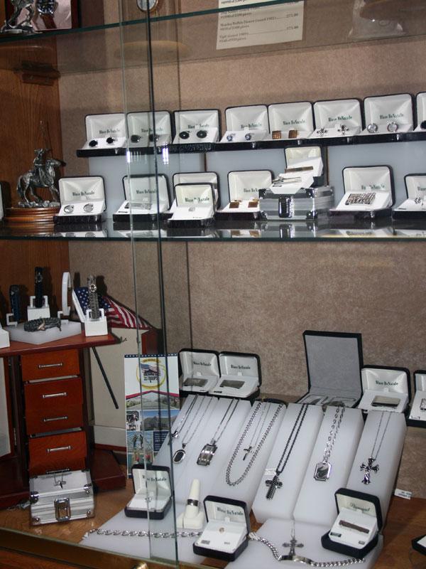 men's jewelry display