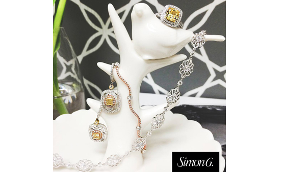 Simon G yellow & white diamond jewelry