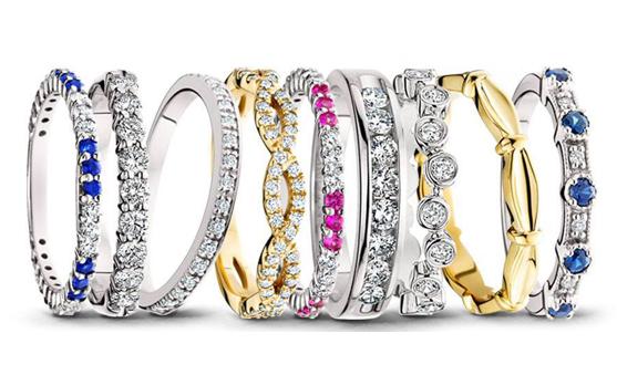 Berco gemstone anniversary rings