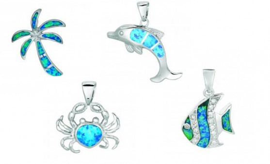 Royal Chain nautical opal charms