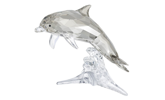Swarovski mother dolphin figurine
