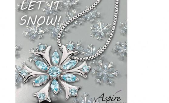 Berco blue topaz snowflake pendant