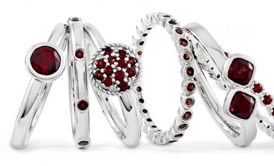 Quality Gold garnet rings