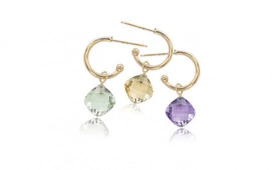 Carla gemstone hoop earrings