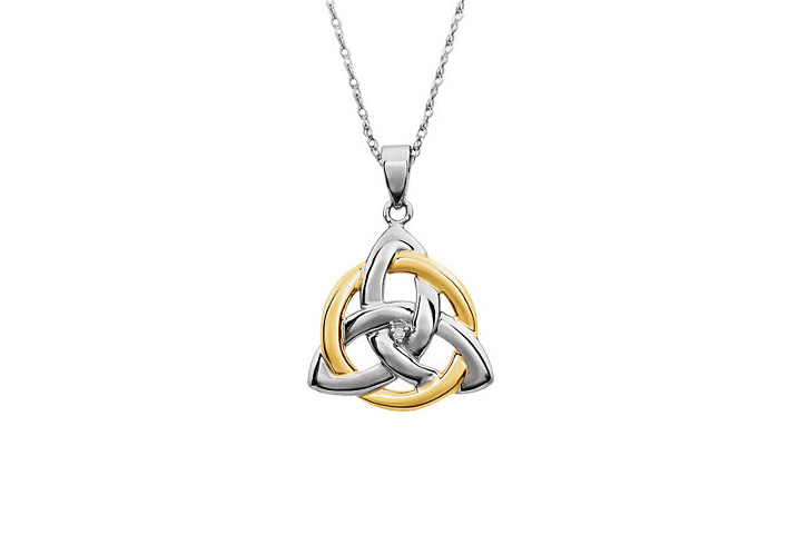 pendant irish trinity celtic plated silver knot