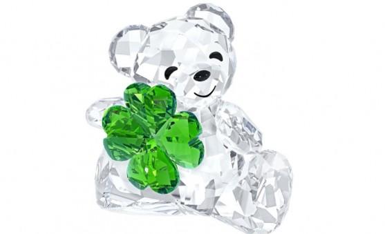 Swarovski Kris Bear 4 leaf clover