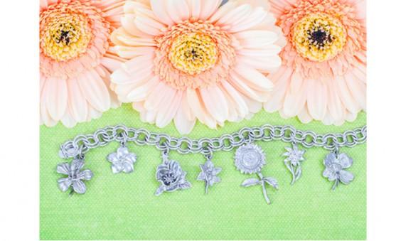 RQC flower charm bracelet