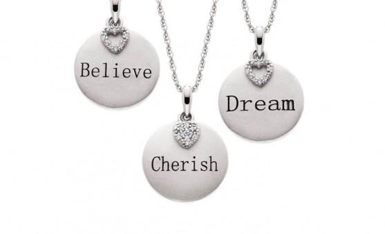 Aspire word necklaces