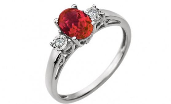 Stuller 14K ruby ring