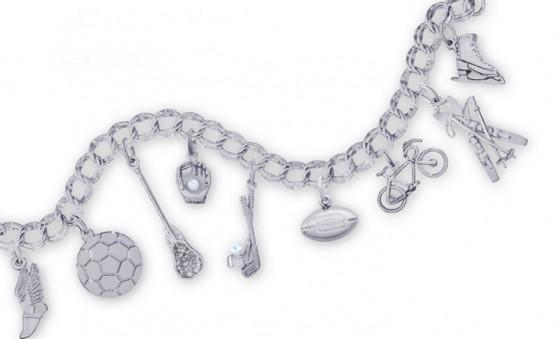 sports charm bracelet