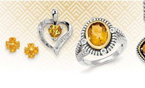 Quality Gold citrine jewelry
