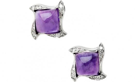 Mark Schneider amethyst earrings