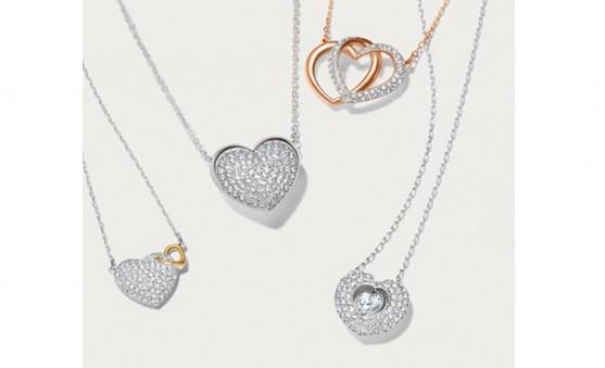 Swarovski heart necklaces