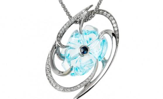 Mark Schneider aqua flower pendant