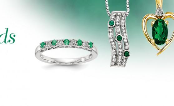 Quality Gold emeralds