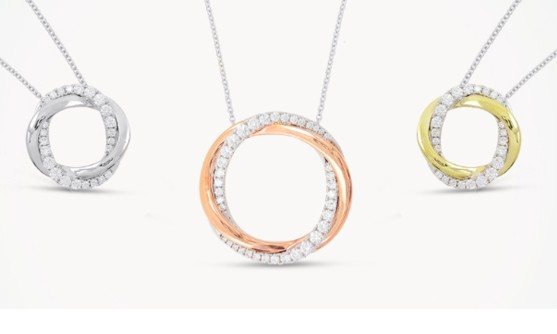 Fred Sage halo necklaces
