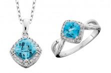 Birch blue topaz necklace-ring