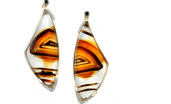 Mark Schneider agate earrings