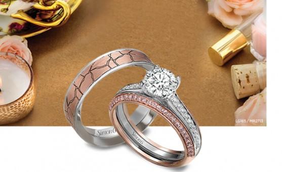 Simon G romance bridal set