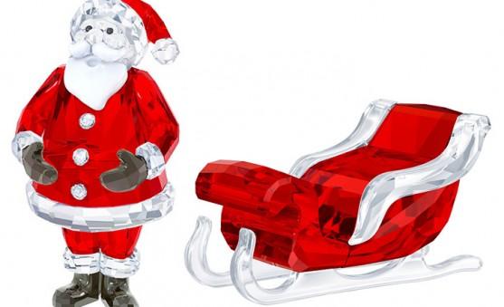 Swarovski Santa sleigh