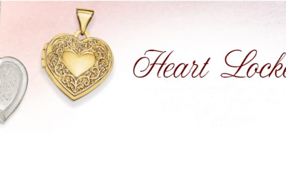 Quality Gold heart lockets