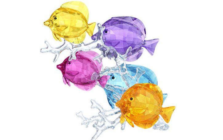 Swarovski rainbow fish
