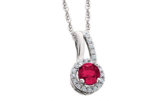 Birch ruby pendant