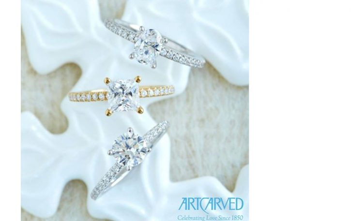 Art Carved engagement rings